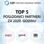 Poslovni.hr: TOP 5 Poslodavci Partneri za 2020. godinu